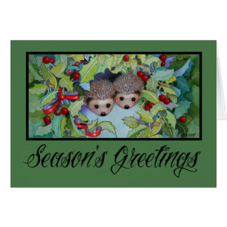 Hedgehog Christmas Holiday Card