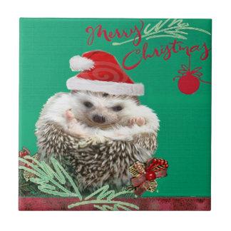 Hedgehog Christmas TIles