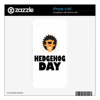 Hedgehog Day - Appreciation Day Decals For iPhone 4