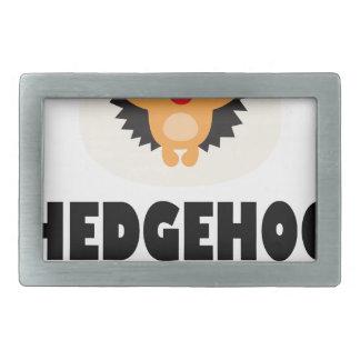 Hedgehog Day - Appreciation Day Rectangular Belt Buckle