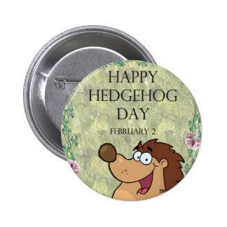 Hedgehog Day February 2 Pinback Buttons