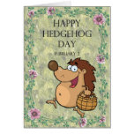 Hedgehog Day February 2 Greeting Card