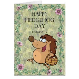 Hedgehog Day February 2 Greeting Cards