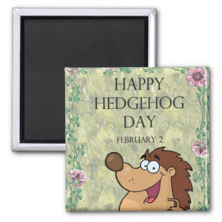 Hedgehog Day February 2 2 Inch Square Magnet