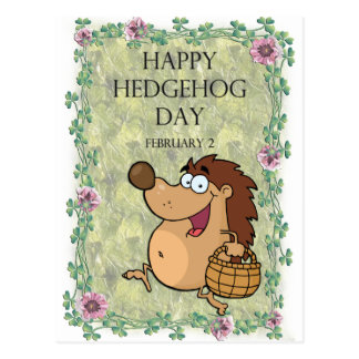 Hedgehog Day February 2 Postcard