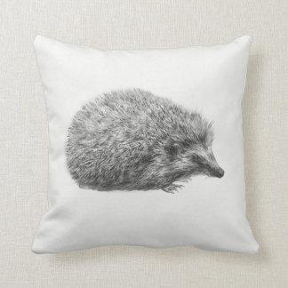 'Hedgehog Drawing' Throw Pillow