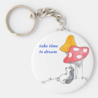 Hedgehog dreamer keychain