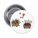 Hedgehog - erizo pin redondo 5 cm