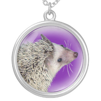 Hedgehog Face Necklace