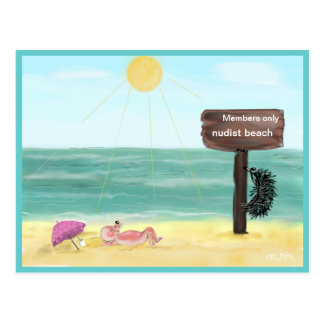 Hedgehog FKK/hedgehog nudist, Postcards