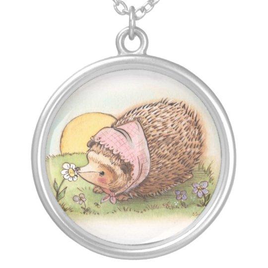 Hedgehog Flower Pendant Necklace