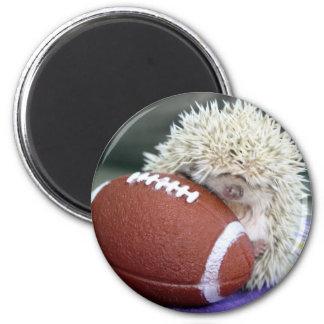 Hedgehog Football 2 Inch Round Magnet