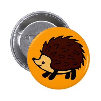 Hedgehog forest orange button