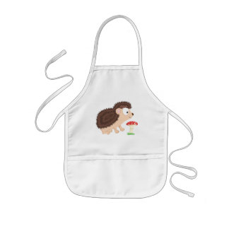 Hedgehog from my Forest series Kids' Apron