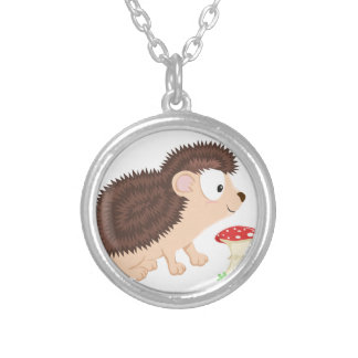 Hedgehog from my Forest series Silver Plated Necklace