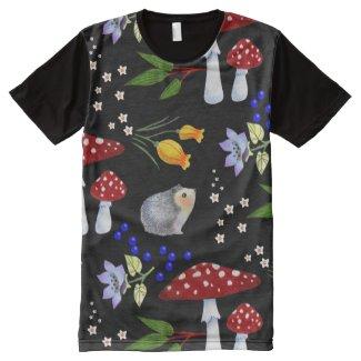 Hedgehog Garden All-Over Print T-shirt