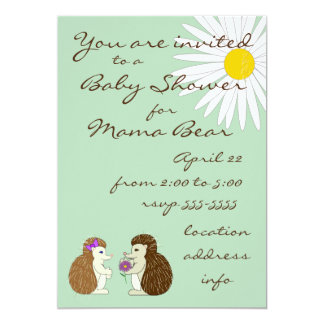Hedgehog Gender Reveal Baby Shower Invitation