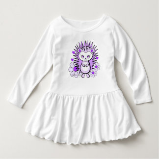 Hedgehog Girly Cute Lavender Dress