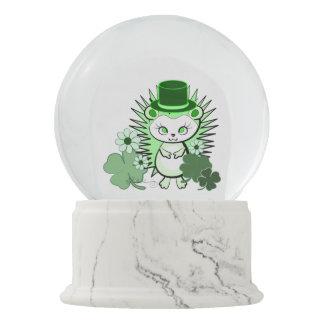 Hedgehog Girly Cute Saint Patricks Day Snow Globe