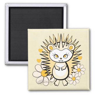 Hedgehog Girly Cute Yellow Refrigerator Magnets
