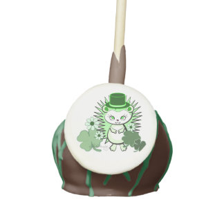 Hedgehog Girly Saint Patrick's Day Cake Pops