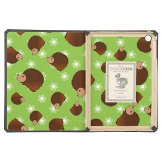 Hedgehog green flowers iPad air covers