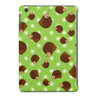 Hedgehog green flowers iPad mini covers