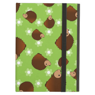 Hedgehog green flowers cover for iPad air