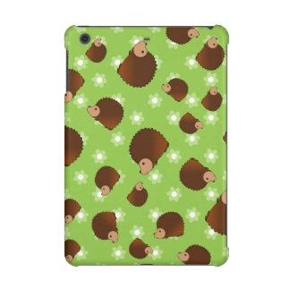 Hedgehog green flowers iPad mini retina case