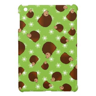 Hedgehog green flowers iPad mini case
