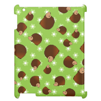 Hedgehog green flowers cover for the iPad 2 3 4