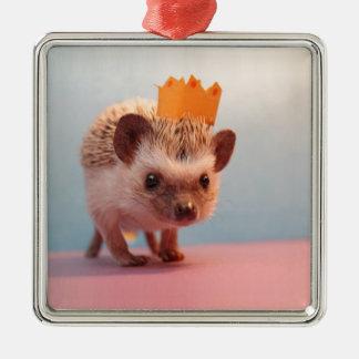 Hedgehog Happiness Metal Ornament