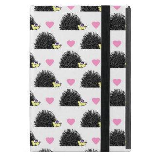 Hedgehog Heart Pattern White Cover For iPad Mini