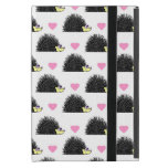 Hedgehog Heart Pattern White Covers For iPad Mini