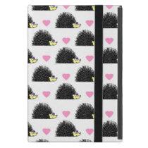 Hedgehog Heart Pattern White iPad Mini Case