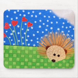 Hedgehog Hearts! Mouse Pad