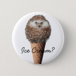 Hedgehog Ice Cream Button