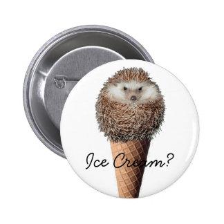Hedgehog Ice Cream Button