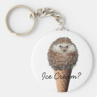 Hedgehog Ice Cream Keychain