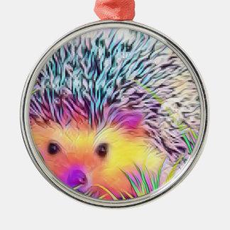 Hedgehog image metal ornament