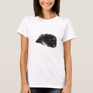 Hedgehog in black-and-white T-Shirt