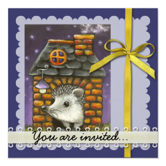 Hedgehog in his cosy little home card