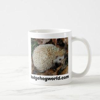hedgehog in leaves mug