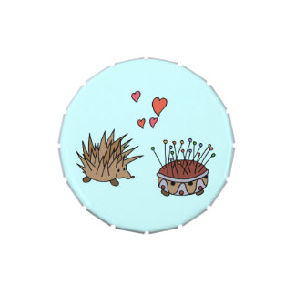 Hedgehog in love jelly belly candy tin