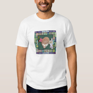 Hedgehog in stained glass style frame shirt
