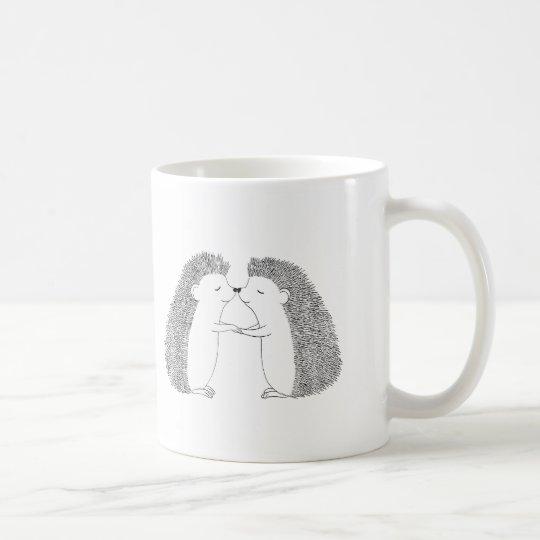 Hedgehog Ink Drawing Cute Hedgehog Friends Love Coffee Mug | Zazzle.com