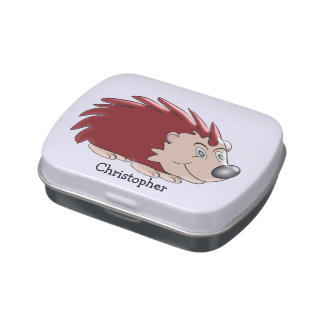 Hedgehog Just Add Name Jelly Belly Tin