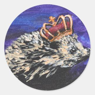 Hedgehog King Sticker