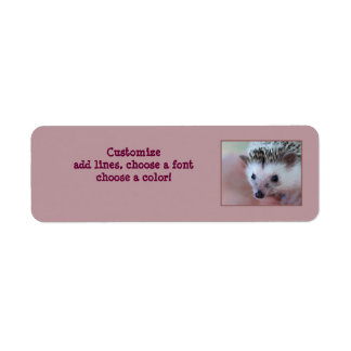 Hedgehog label