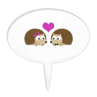 Hedgehog Love Cake Topper
